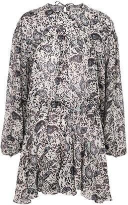 Etoile Isabel Marant Nimazu printed georgette mini dress