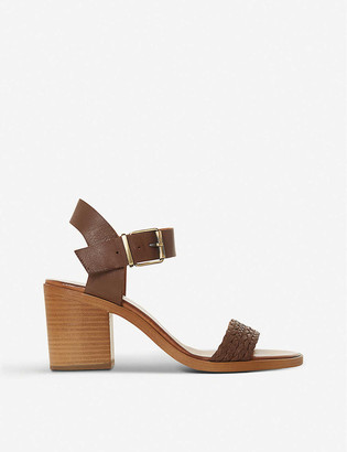 Bertie Irine leather heeled sandals