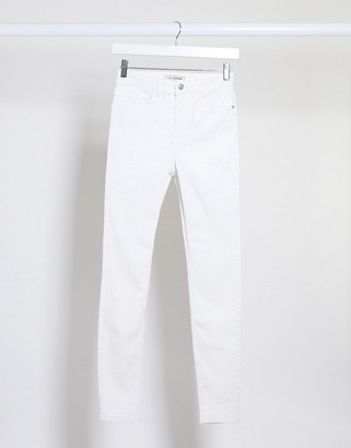 Pimkie super skinny high waisted jean in white