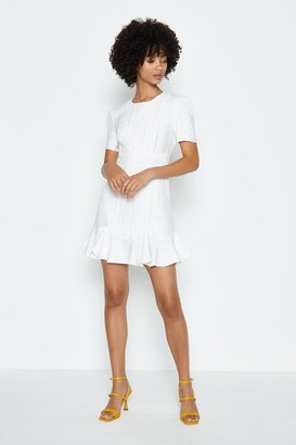 Coast Puff Sleeve Ruffle Hem Mini Dress