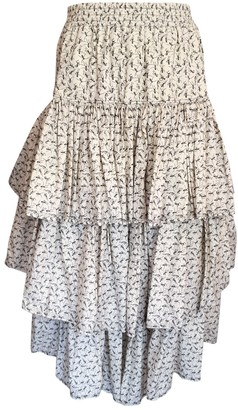 Gaultier Junior White Cotton Skirt for Women Vintage