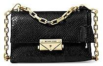 MICHAEL Michael Kors Women's Extra-Small Cece Snakeskin-Embossed Leather Shoulder Bag