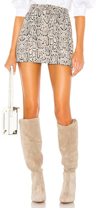 LAMARQUE Melora Snake Skirt