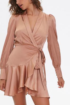 Forever 21 Satin Wrap Dress