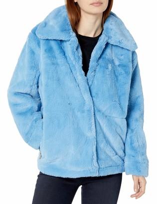Urban Republic Women's Juniors Soft Hair Pile Fur Jacket