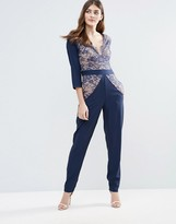 Little Mistress Lace Panel Jumpsuit