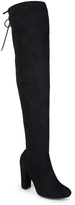 Journee Collection Black Maya Wide-Calf Over-the-Knee Boot