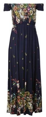 Dorothy Perkins Womens *Izabel London Navy Floral Print Bardot Midi Dress, Navy