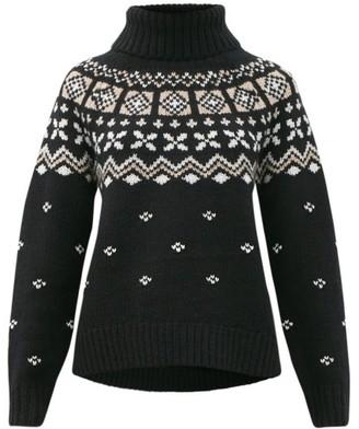 Bogner Sina Fair Isle Cashmere Sweater - Black Print