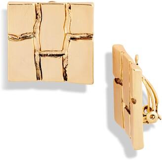 Karine Sultan Square Brick Earrings