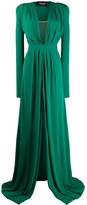DSQUARED2 low v neck gown