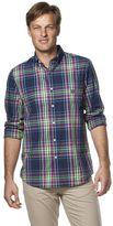 Chaps Men's Classic-Fit Medium Beacon Plaid Button-Down Shirt