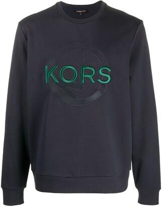 Michael Kors Logo Embroidered Crewneck Sweatshirt