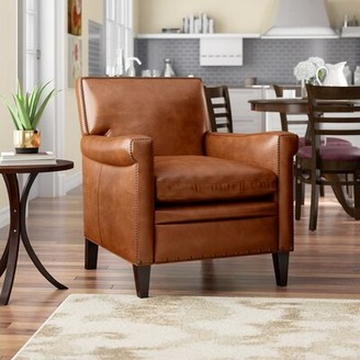 "Hooker Furniture Jilian 31"" W Top Grain Leather Club Chair"