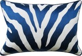 The Well Appointed House Abstract Print Pillow in Navy-Available in Two Different Sizes