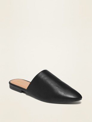 Old Navy Faux-Leather Pointy-Toe Mule Flats for Women