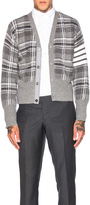 Thom Browne Tartan Plaid Wool Cardigan