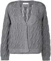 Cruciani cable knit cardigan