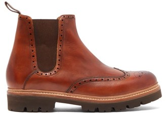 Grenson Arlo Leather Chelsea Boots - Mens - Brown