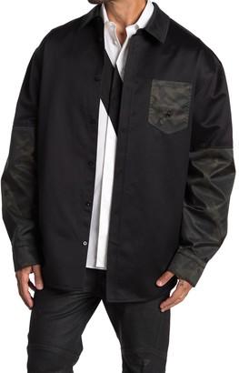 Helmut Lang Camo Oversized Shirt Jacket