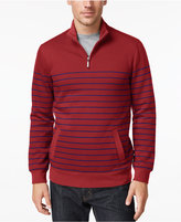 Club Room Men's Big and Tall Striped Quarter-Zip Pullover, Only At Macy's