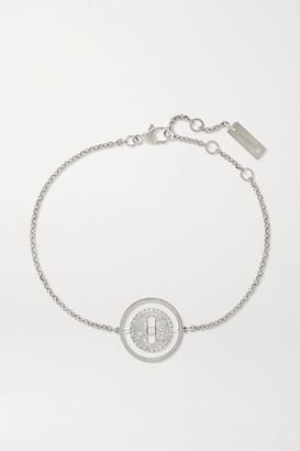 Messika Lucky Move Pm 18-karat White Gold Diamond Bracelet - one size
