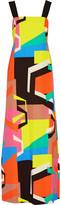 Milly Alexa cutout printed cady maxi dress