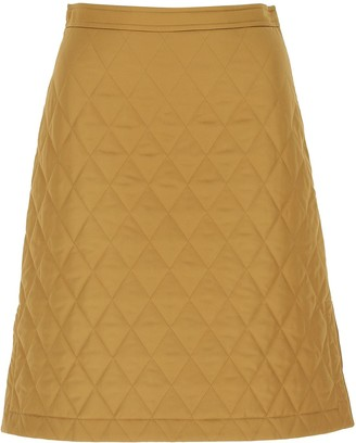 Burberry Quilted A-Line Skirt