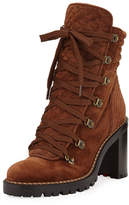 Christian Louboutin Mad Lace-Up Block-Heel Boot