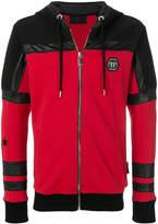 Philipp Plein logo patch zipped jacket