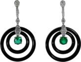 INBAR Emerald And Diamond Earrings