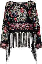 Kimono Print Jacquard Top