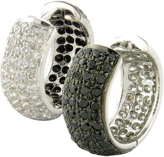 Sethi Couture 18k Gold & Black/White Diamond Huggie Earrings