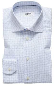 Eton Contemporary Fit Micro Neat Dress Shirt