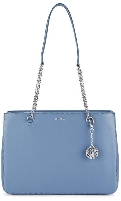 DKNY Large Blue Leather Tote