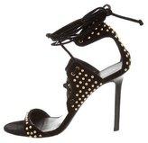 Tamara Mellon Studded Lace-Up Sandals