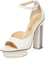 Aperlaï Women's Leather Ridge Platform Sandal