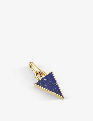Missoma Triangle 18ct yellow gold-plated vermeil and lapis clip-on pendant