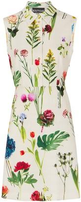 Boutique Moschino Cream floral-print shirt dress