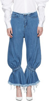 Marques Almeida Blue Baggy Jeans