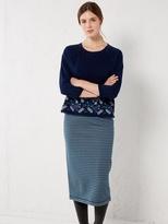 White Stuff Willow stripe reversible skirt