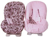 Private Label Reversible Toddler Car Seat Cover by Itzy Ritzy - Pink/ Brown Floral