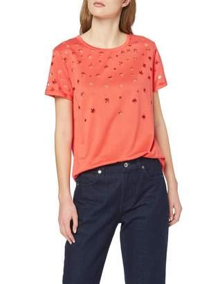 Scotch & Soda Maison Women's Short Sleeve Burnout Tee T-Shirt