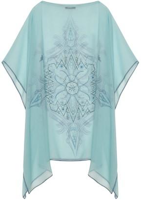 Gisy Vietnam Mandala Turquoise Silk Kaftan No.7