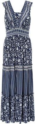Under Armour Farrah Printed Jersey Dress in LENZING ECOVERO Blue