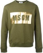 MSGM logo print sweatshirt - men - Cotton - M