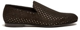 Jimmy Choo Sloane Star-perforated Suede Loafers