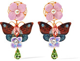 Dolce & Gabbana Gold-plated, Swarovski Crystal And Faux Pearl Clip Earrings