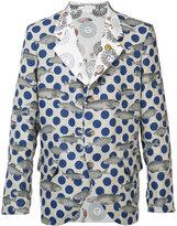 Comme des Garcons fish print blazer - men - Cotton/Linen/Flax - XS