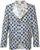 Comme des Garcons x Fornasetti fish print blazer - men - Linen/Flax/Cotton - XS